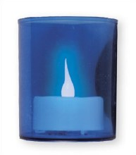 Blue Battery Votive Light