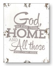 God Bless This Home Wood Plaque