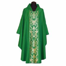 Green Chasuble with Gold Vine Panel