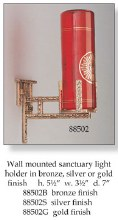 Sanctuary Lamp with Silver Finish