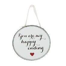 Happy Ending Mirror Plaque