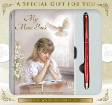 Girl Confirmation Gift set book and pen