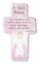 A Childs Blessing Pink Cross 15cm