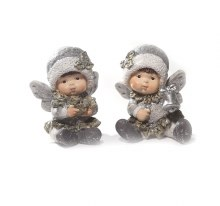 20140 White and Silver Christmas Angel 7cm