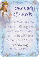 Our Lady of Knock Prayer Card