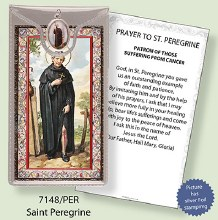 St Peregine Prayercard and Medal