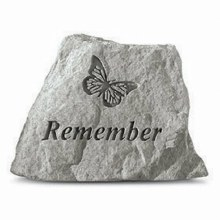 78520 Thoughts Stone Remember with Butterfly 8 x 9