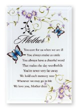 Mother Blessing Glass Plaque