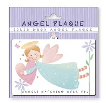 Green Angel Watching Over You Wood Plaque