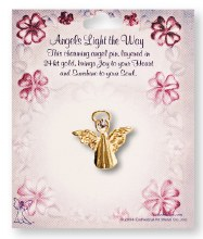 Angels Light The Way Pin