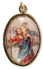 St Christopher Medal Gold Finish