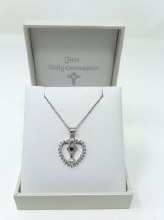 CP413501  First Holy Communion Heart Shaped medal