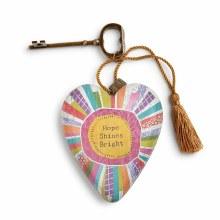 Hope Shines Bright Art Heart (10cm)