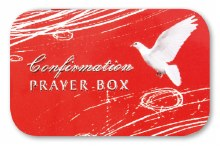 Confirmation Prayer Box with 20 page meno pad and pencil