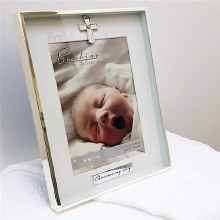 Silverplated Christening Day Frame
