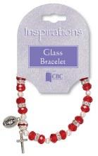 Ruby Glass Bracelet