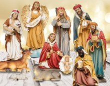 11 piece Traditional Nativity set