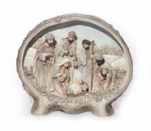 20505 Nativity Scene in Wood Frame  16cm