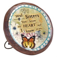 Soul Sisters Wood Carved Flower