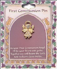 First Holy Communion Angel Brooch