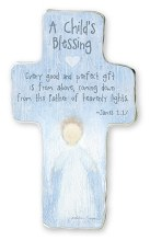 A Childs Blessing Blue Cross 15cm