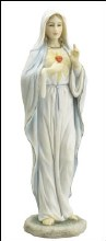 52717  Sacred Heart Mary veronese statue 22cm