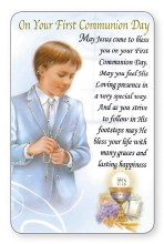 Boy First Communion Prayer Card