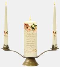 Ivory Rose Wedding Candle Boxed Set