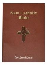 New Catholic Bible, Large Type, Brown, paperback