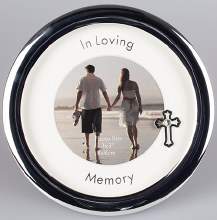In Loving Memory Round Silver Photoframe