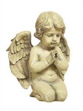 Resin Sitting Angel Grave Statue (24cm)