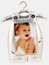 Silver Plated Baby Boy Jumpsuit Frame