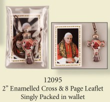 Pope Benedict Cross on Chord with Leaflet