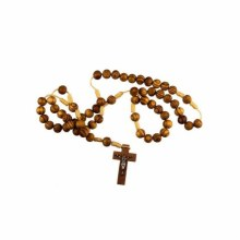 Wood and Cord Rosary Beads