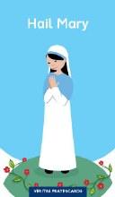 Hail Mary Grow In Love Prayercard