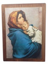 Madonna of the Wayside on walnut Wood Panel (64 x 82cm)