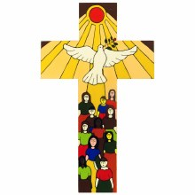 Gift of the Spirit Hand Painted Cross (38cm)