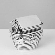 WY5086 Silver  plated Noahs ark moneybox