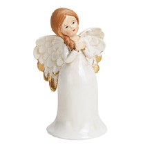 White Porcelain Bell Christmas Angel