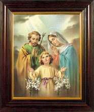 Holy Family Framed Print (30 x 25cm)