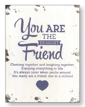 Dearest Friend Wood Plaque