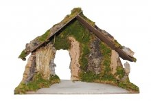 Nativity Shelter with Grass Background