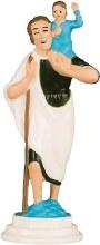 St Christopher Statue (Plastic) (6cm)