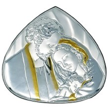 Holy Family Silver and Gold Icon (17 x 15 cm)