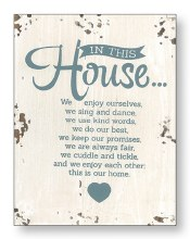 In This House Wood Plaque