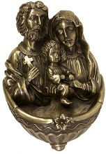 Bronze Holy Family Holy Water Font