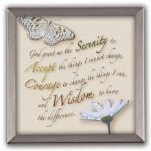Serenity Prayer Copper Framed Plaque