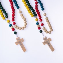 Multicoloured Wooden Missionary Beads