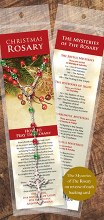 Christmas Glass Rosary Beads on Card