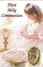 Girl First Holy Communion Prayercard